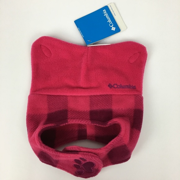 655df92ff NWT COLUMBIA Fleece Infant Girls Pigtail Hat Pink NWT